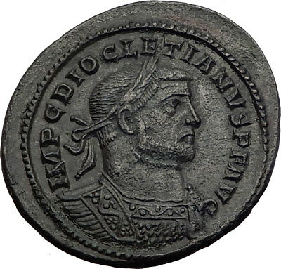 DIOCLETIAN 300AD Follis London Londinium Mint RARE Ancient Roman Coin i64018