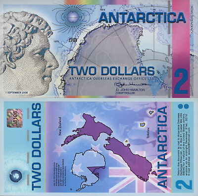 Antarctica 2 Dollars (2008) - Ross/New Zealand