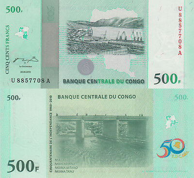 Congo DR 500 Francs (30.06.2010) - 50 Year Commemorative/p100 UNC