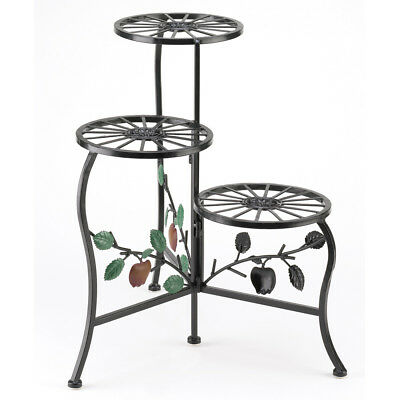 Garden Plant Stands, Wrought Iron Indoor Plants Stand For Display - Black