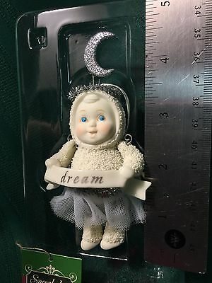 "DEPARTMENT 56 SNOW BABIES ""DREAM "" ORNAMENT 2008 Snowbaby New"