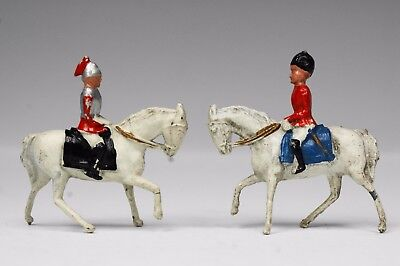 CRESCENT VINTAGE LEAD 40mm MOUNTED TOY SOLDIERS LIFE GUARD & GUARDSMAN...!!