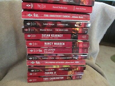 Lot of 13 Harlequin Blaze Romance 2002-2016