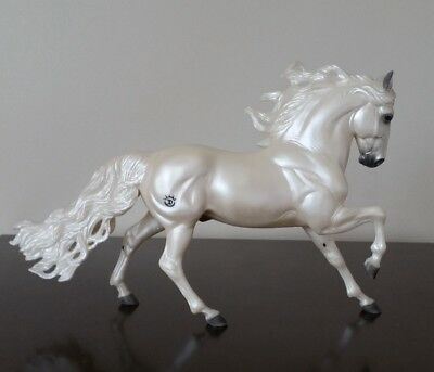 Breyer Horse Templado - Pearlescent Dappled White Andalusian Stallion