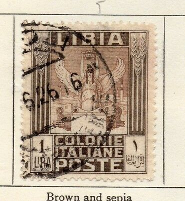Libia 1921 Early Issue Fine Used 1L. 185778