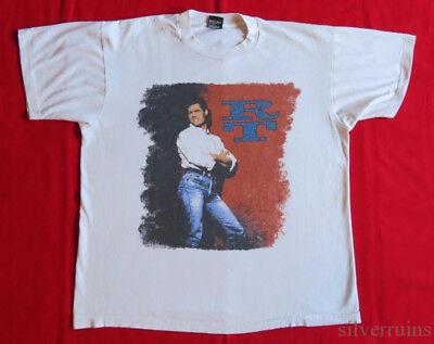 RANDY TRAVIS Vintage T Shirt 90's Tour Concert 1990 Heroes COUNTRY MUSIC