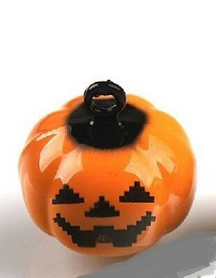 Dog collar bell charm tag / pumpkins aren't just for Halloween / ring attached