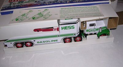 Hess Toy Truck & Helicopter w/Box. Head Tail Lights Vintage 1995 POSSIBLE DAMAGE