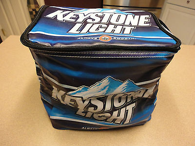 Keystone Light Officially Licensed Soft Sided Six Pack Zippered Cooler NEW