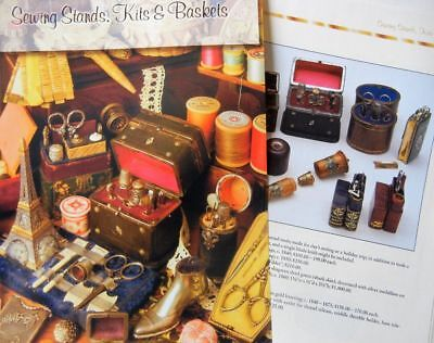20p History Article + Color Pics -   Antique Sewing Stands, Kits & Baskets