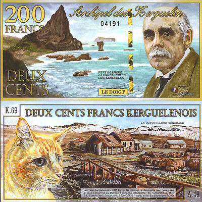 Kerguelen Islands 200 Francs (2010) - Cat/Kerguelen Village