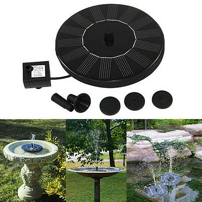 Floating Solar Powered Garden Water Pump Fountain Pond For Bird Bath Tank PR