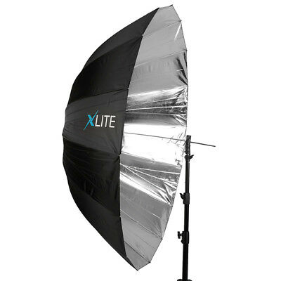 Xlite Deep Parabolic Black / Silver Umbrella 165cm Photography Studio Lighting