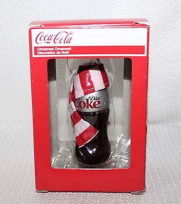 """2013 New Kurt S Adler Ornament """"Diet Coke"""" With Red And White Scarf IOB"""