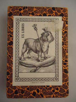 Vtg RARE English Bulldog Il Meneghello Milano Bookplates NEW box of 50 Ex Libris
