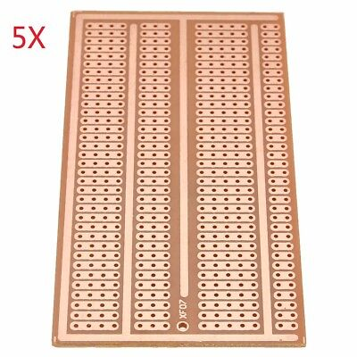 5Pcs 5X10cm Single Side Copper Prototype Paper PCB Breadboard 2-3-5 Joint Holes