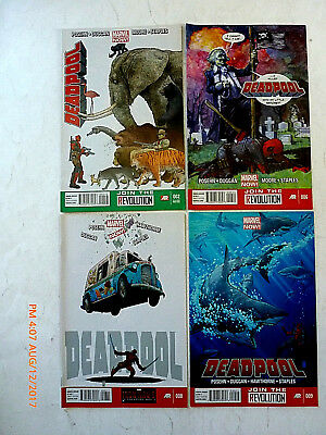 Marvel Comics Deadpool #2, 6, 8-9 Comic Book Set! New!