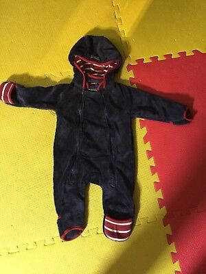 Rugged Bear Infant Baby Boy Girl Hooded Bunting Snowsuit One Piece 3-6 Months