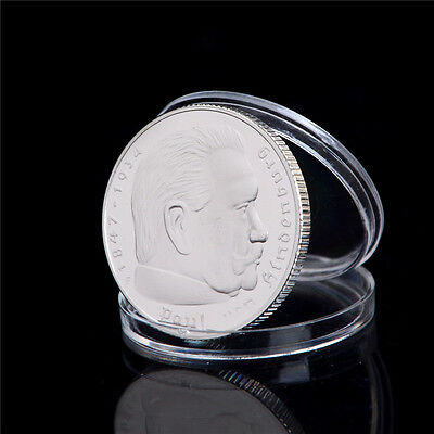 Silver-Plated 1937 Hindenburg President Commemorative Coin Collections Gift GN