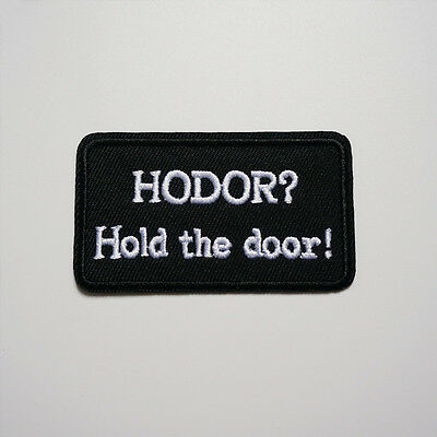 Embroidery Game of Thrones HODOR Sew Iron On Patch Badge Bag Hat Fabric Applique
