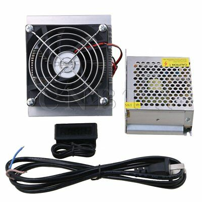 DC12V Semiconductor Refrigeration Cooler Fan Kit with Thermometer+Power