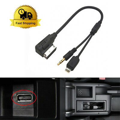 Audi VW Car Cable AUX-In AMI MMI MDI Audio Interface Lead iPhone 5 6 Lightning