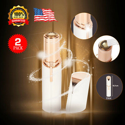 2 X Women's Painless Finishing Touch Flawless Hair Remover Face Facial Hair  USA
