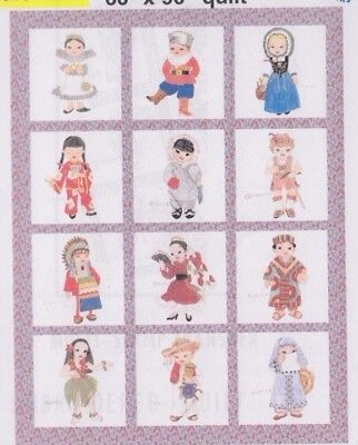 Dolls of the Nation - iron on 24 motifs PATTERN  - from my stash