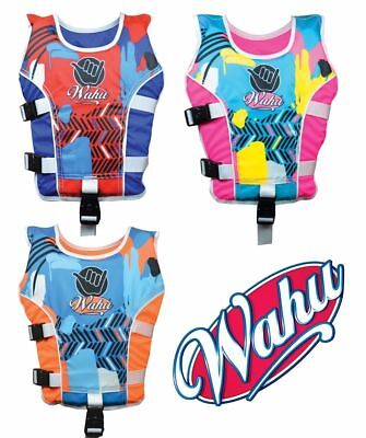 Wahu Swim Vest Small Size 15- 25kg Swimming Aid Ages 2-3 yrs Bright New Design