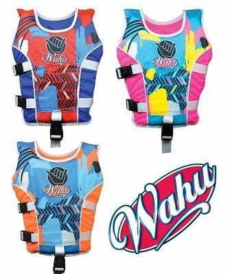 Wahu Swim Vest Medium Size 15- 25kg Swimming Aid Ages 4-5 yrs Bright New Design