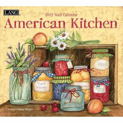 NEW American Kitchen Susan Winget 2018 Lang Calendar Packed Well Free Postage