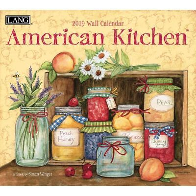NEW American Kitchen Susan Winget 2019 Lang Wall Calendar Packed Well Free Post