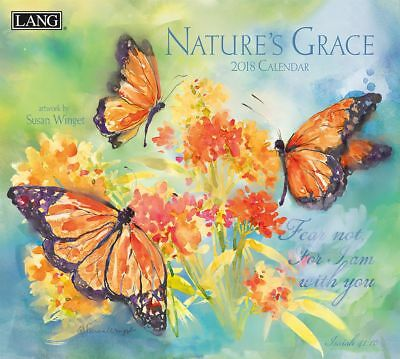 NEW Natures Grace Susan Winget 2018 Lang Calendar With Scripture Free Postage