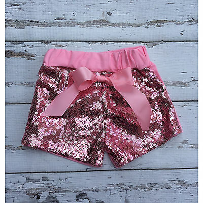 Sale Brand New Toddler girls pink sequin shorts with bow size 3T