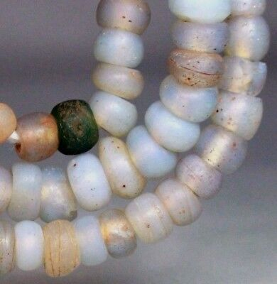 Antique Venetian Opalescent Native American Old Trade Beads G. Lakes Indian 1800