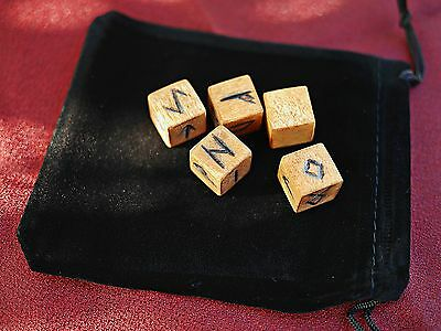 Elder Futhark  Viking Rune Dice Set With Pouch