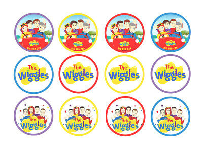 THE WIGGLES Edible Wafer/Rice Cake Cupcake toppers Birthday party Decorations
