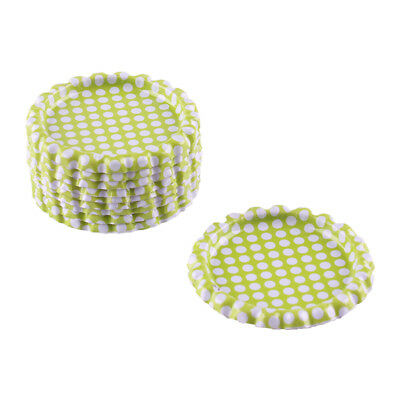 """10pcs Green Dots Flat Double Sided Colored 1"""" Bottle Caps Scrapbooking Craft"""