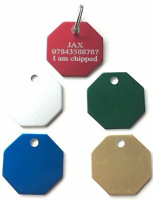 Limited Special Offer Personalised Engraved Coloured Dog/Cat ID Pet Tag (D2)