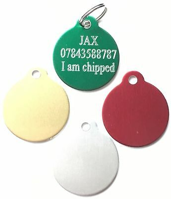 Limited Special Offer Personalised Engraved Coloured Dog/Cat ID Pet Tag (D3)