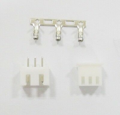 20 Pcs XH2.54 Connector Kits 2.54mm Pin Header + Terminal + Housing XH2.54-3P A+