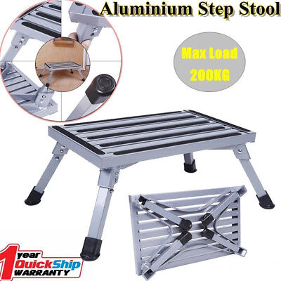 Folding Aluminium Alloy Step Stool Loads 200kg Caravan Camping New Arrival