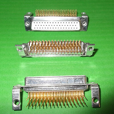 Dee Socket 50 Way D Right Angle PCB DX DND50SYCT-29 Machined Pin GOLD Ceep x 1