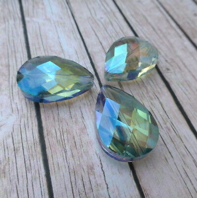 Pack of 5 Glass Faceted Teardrop Beads crystal drops Slight Seconds!