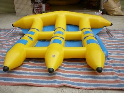 Inflatable Fly Fish flyfish Towable 6 Persons Slide Flying Banana Boat Water