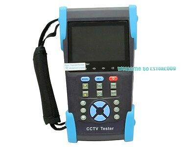 """3.5"""" TFT-LCD POE Tester CCTV Camera Audio Signal Tester Controller IP Search New"""
