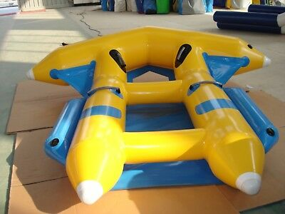 Inflatable Fly Fish flyfish Towable 4 Persons Slide Flying Banana Boat Water
