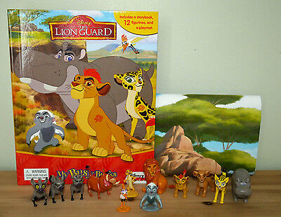Disney Lion Guard My Busy Books With 12 Disney Figurines + Playmat Bnib
