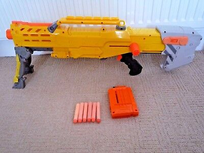 Nerf N-Strike Longshot Cs6 Rifle With Bipod & Extendable Stock With 6 Bullets