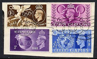 GB = 1948 Olympic Games set of 4, `OLYMPIC GAMES WEMBLEY, 06.08.1948. Fine Used